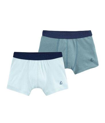 Duo Boxershorts aus Baumwolle und Leinen für kleine Jungen