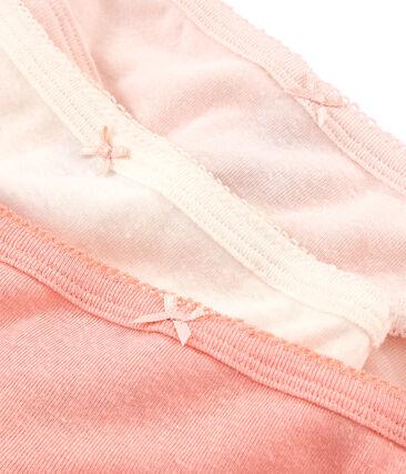 Trio Unterhosen für kleine Mädchen aus Baumwolle und Leinen