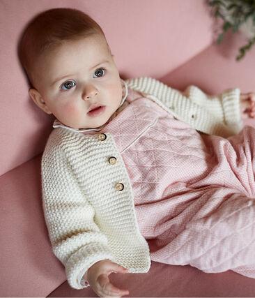 Baby-Cardigan aus 100% Baumwollstrick. weiss Marshmallow