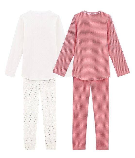 Set aus 2 leichten Pyjamas für kleine Mädchen lot .