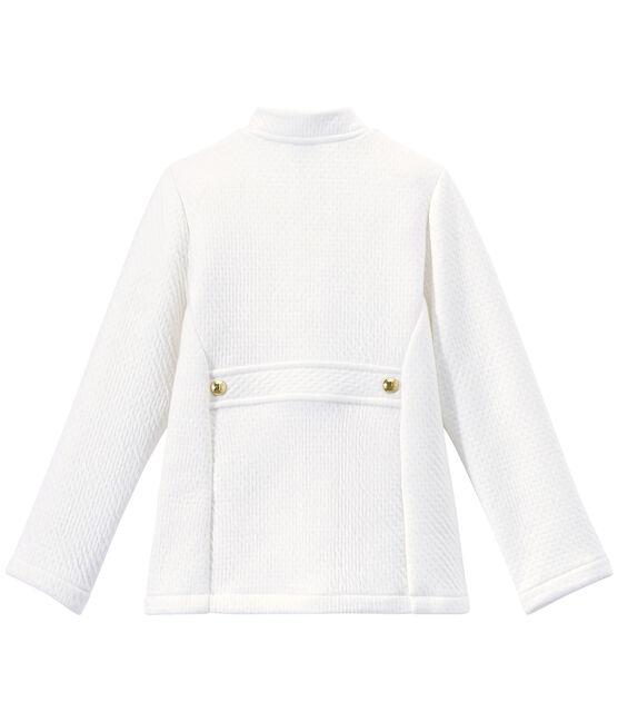 Gesteppter Mädchen-Mantel aus gedoppeltem Jersey weiss Marshmallow
