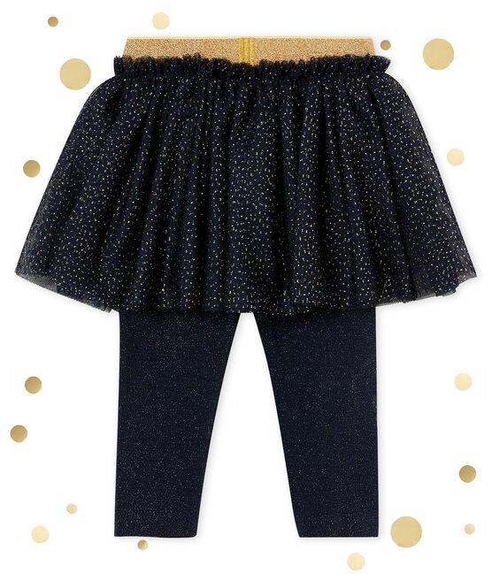 Baby MädchenRock mit Leggings blau Smoking / gelb Dore