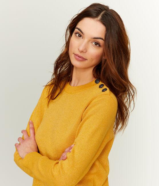 Damenpullover gelb Boudor / gelb Or