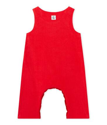 Baby-Jungen-Latzhose aus Nicki rot Froufrou