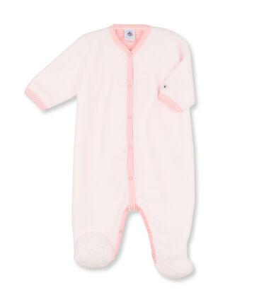 Baby-Mädchen-Overall aus Fleece rosa Vienne