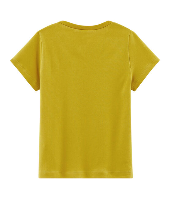 T-Shirt mit Logo Damen gelb Bamboo