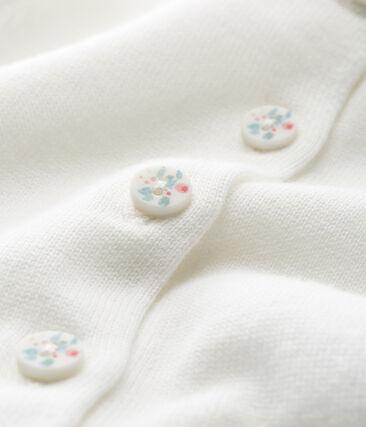 Baby-cardigan aus 100% baumwolle mädchen weiss Marshmallow