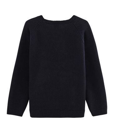 Kinder-Strickpullover aus Wolle und Baumwolle für Jungen blau Smoking