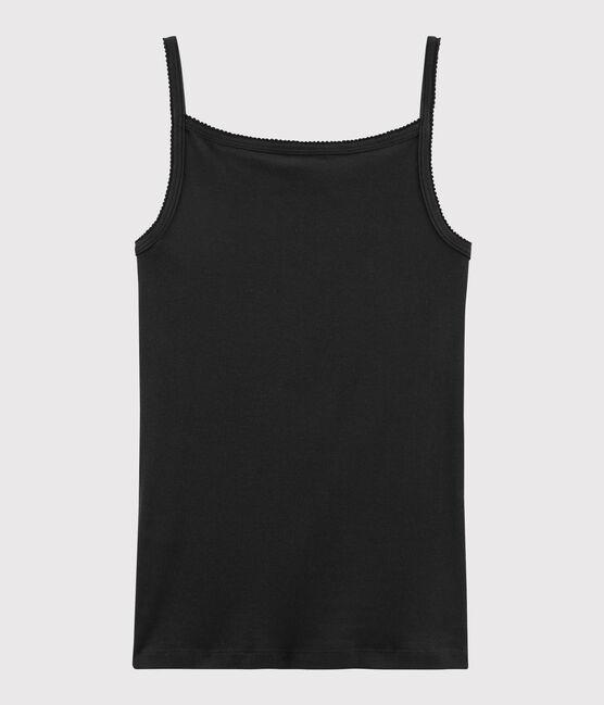 Damen-Trägershirt schwarz Noir