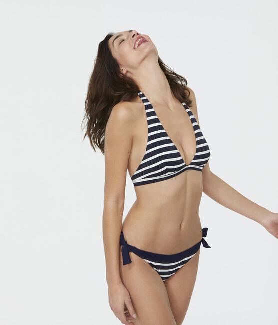 Bikini blau Smoking / weiss Marshmallow