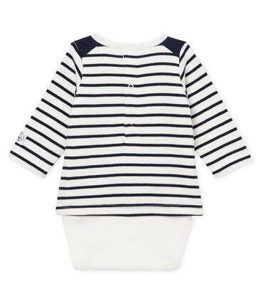 Gestreifter baby-t-shirt-body jungen