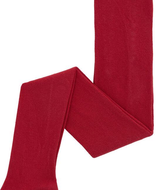 Mädchen Strumpfhose aus Jersey rot Terkuit