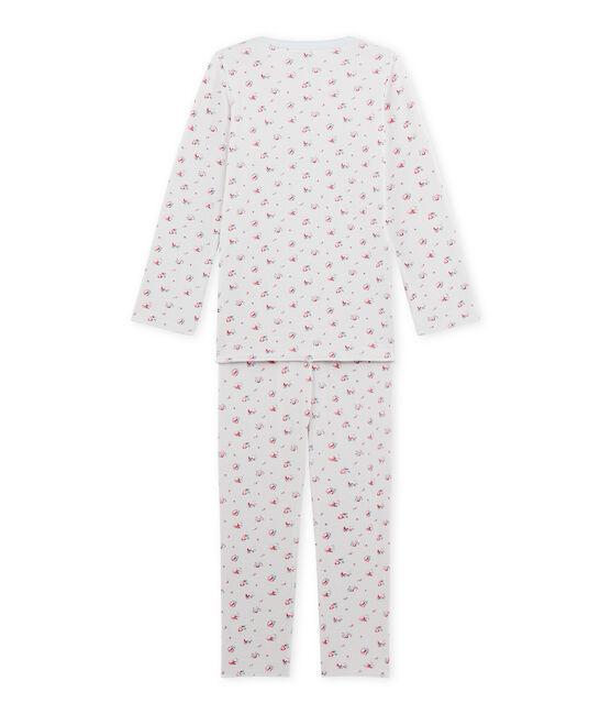 Pyjama fille imprimé petites fleurs blau Bocal / weiss Multico