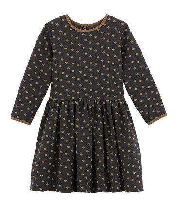 Mädchen Kleid aus Jacquard Jersey