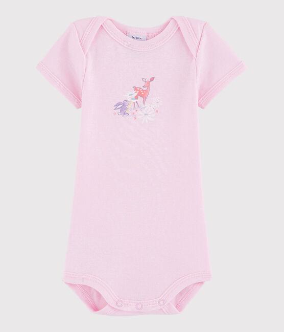 Kurzärmeliger Baby-Body Mädchen/Jungen rosa Doll