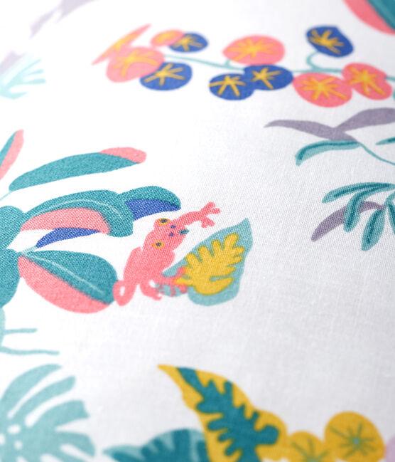 Kissen mit Jungle-Print aus Popeline weiss Marshmallow / weiss Multico
