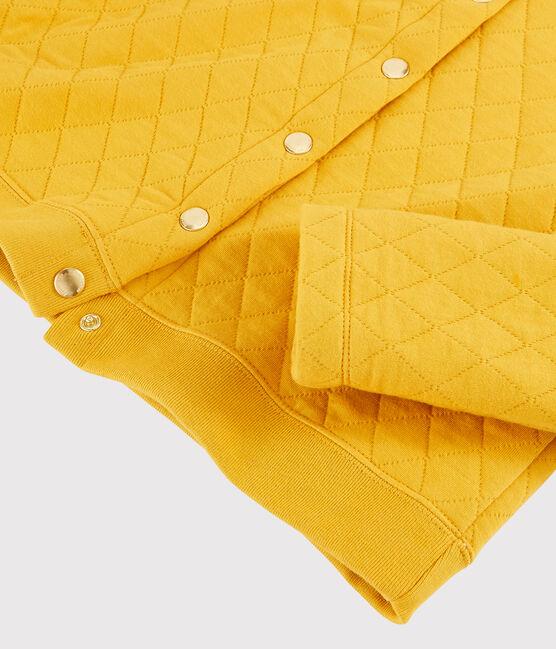 Cardigan aus Rundstrick für Damen gelb Boudor