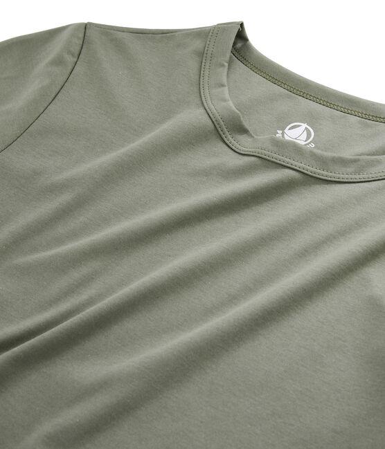 T-Shirt aus Sea-Island-Baumwolle für Damen grün Litop