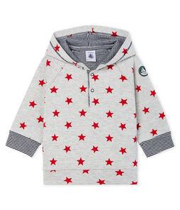 Gemustertes gestricktes Baby-Kapuzensweatshirt für Jungen