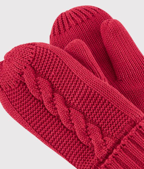 Kinder-Fausthandschuhe für Mädchen und Jungen rot Terkuit