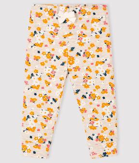 Baby-Hose aus Doppeljersey für Mädchen beige Montelimar / weiss Multico