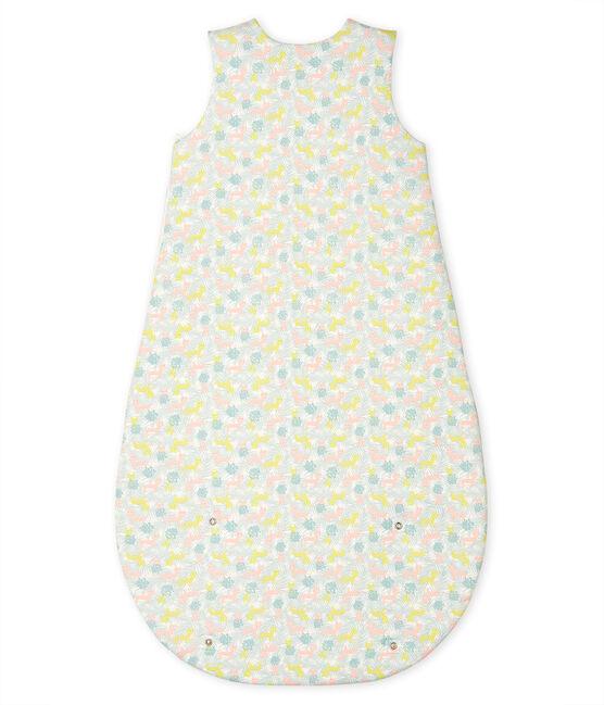 Babyschlafsack aus Rippstrick weiss Marshmallow / rosa Gretel