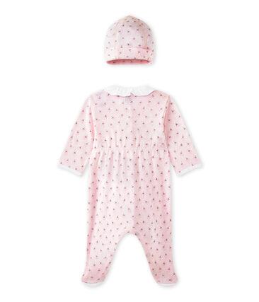 Baby-Mädchen-Strampler und Mütze für Neugeborene