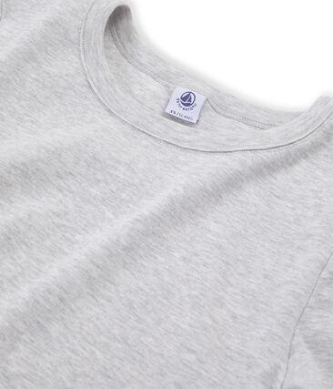 Emblematisches kurzärmliges T-Shirt für Damen grau Beluga