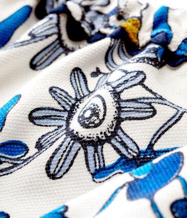 Gemusterte baby-bloomer-höschen aus strick mädchen weiss Marshmallow / weiss Multico