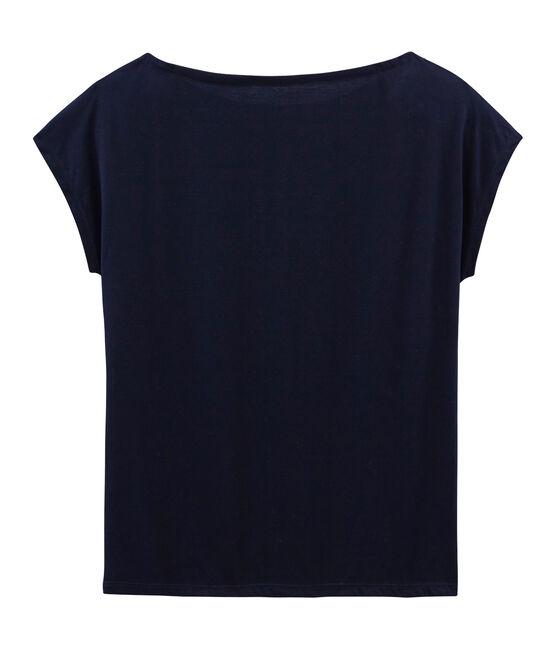 Kurzärmeliges damen-t-shirt sea island aus baumwolle blau Marine