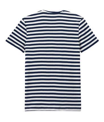 Zweifarbiges Herren-T-Shirt mit Streifen