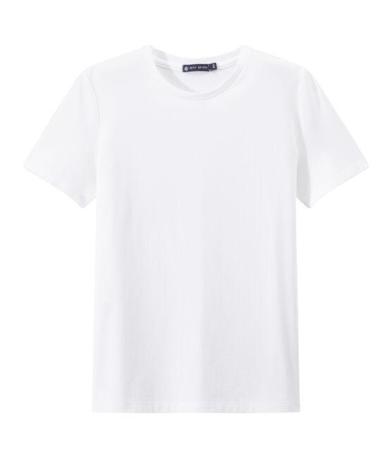 """Gestreiftes Damen-T-Shirt aus leichtem Jersey """"INDISPENSABLE"""" weiss Ecume"""