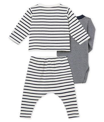3-Teiliges gestreiftes baby-set für jungen