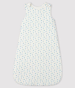 Baby-Schlafsack aus Rippstrick weiss Marshmallow / weiss Multico