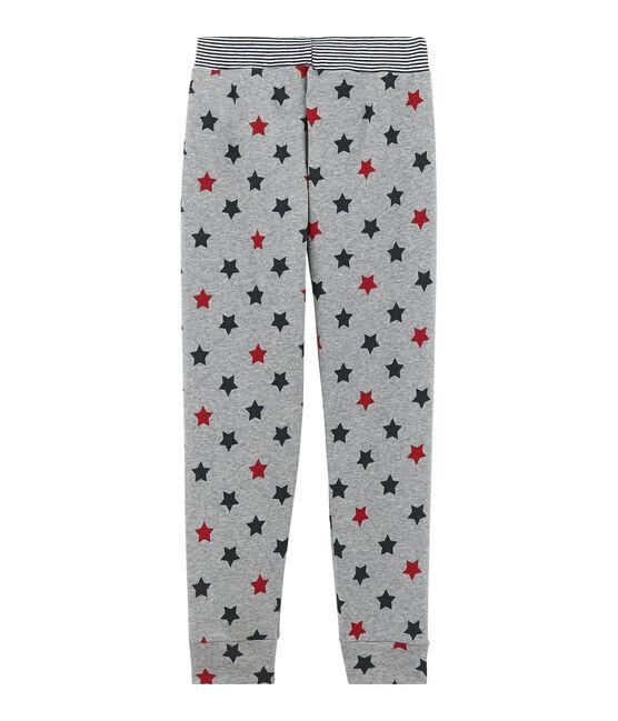Jungen Schlafanzughose grau Subway / weiss Multico