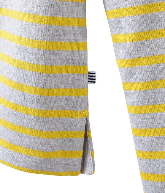 Klassisches streifenshirt grau Poussiere / gelb Ble