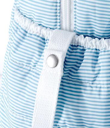 Baby-wickeltasche mit ringelstreifen unisex blau Fontaine / weiss Marshmallow