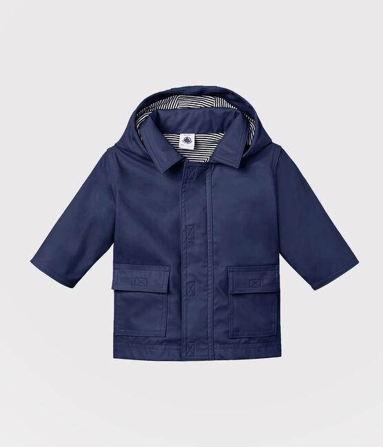 Ikonische Baby-Regenjacke Unisex blau Smoking