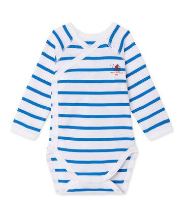 Gestreifter Baby-Jungen-Langarmbody für Neugeborene