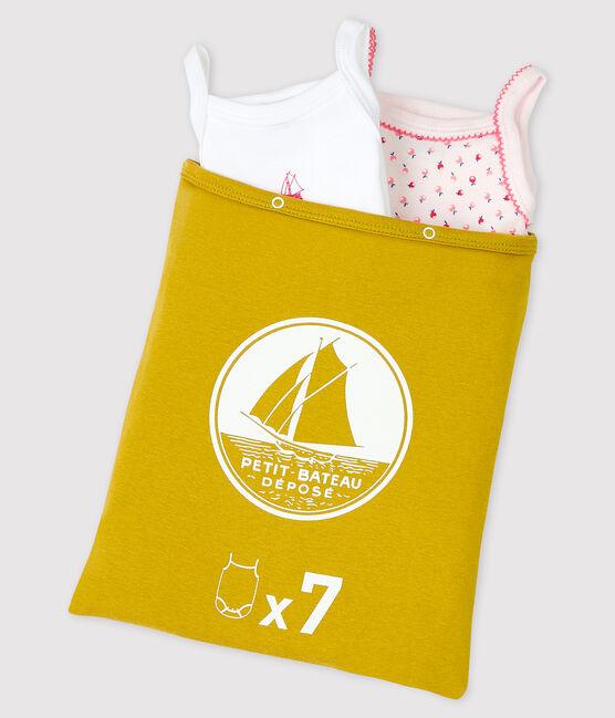 Überraschungstüte mit 7 Baby-Bodys mit Trägern für Mädchen lot .