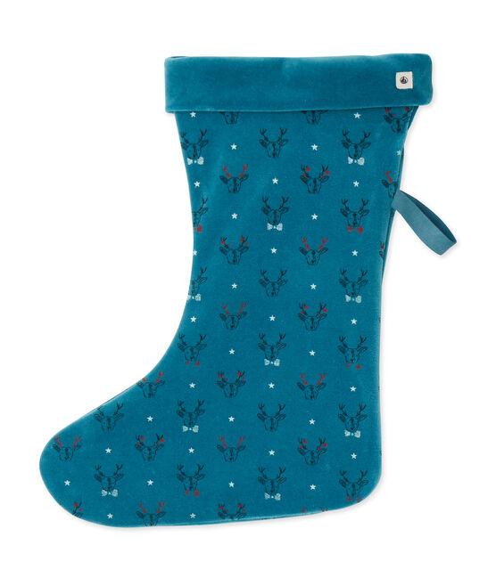 Weihnachtssocken blau Contes / weiss Multico