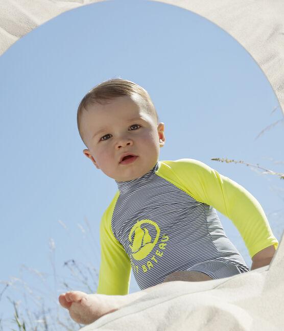Umweltfreundlicher Badeanzug Baby Mädchen/Jungen blau Surf / weiss Marshmallow