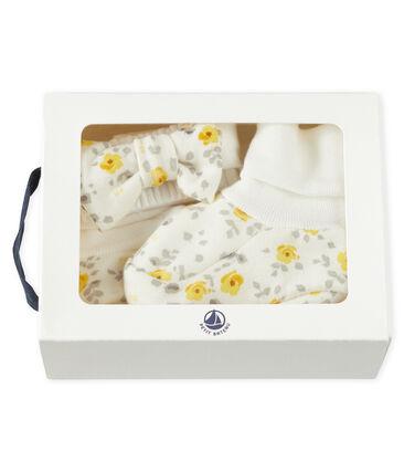 Set mit Haarband und Babyschuhen aus Wolle und Baumwolle für Mädchen lot .