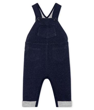 Lange Baby-Latzhose aus Molton für Jungen blau Smoking