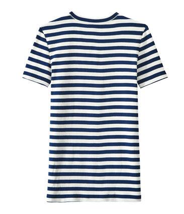 Gestreiftes Damen-T-Shirt aus Original-Rippstrick