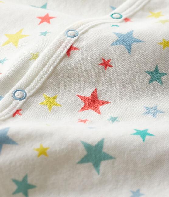 Baby-Strampler aus Doppeljersey weiss Marshmallow / weiss Multico