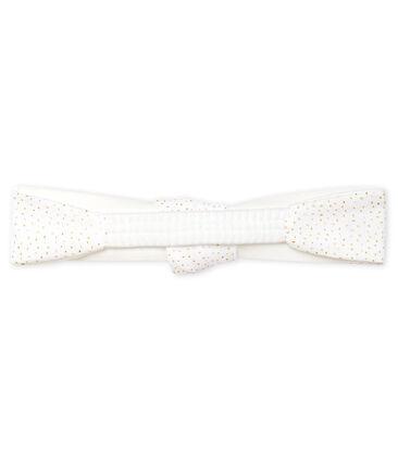 Haarband für Mädchen weiss Marshmallow / rosa Copper