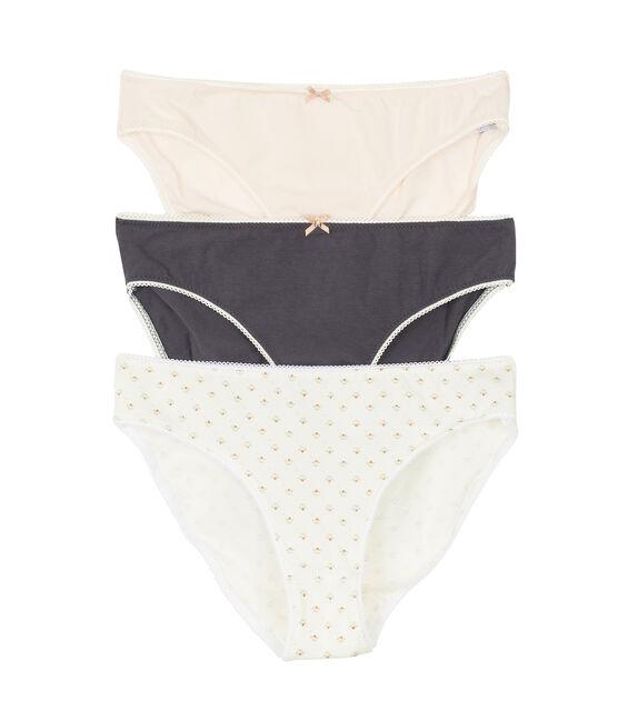 Trio Unterhosen für Mädchen aus Stretchbaumwolle lot .