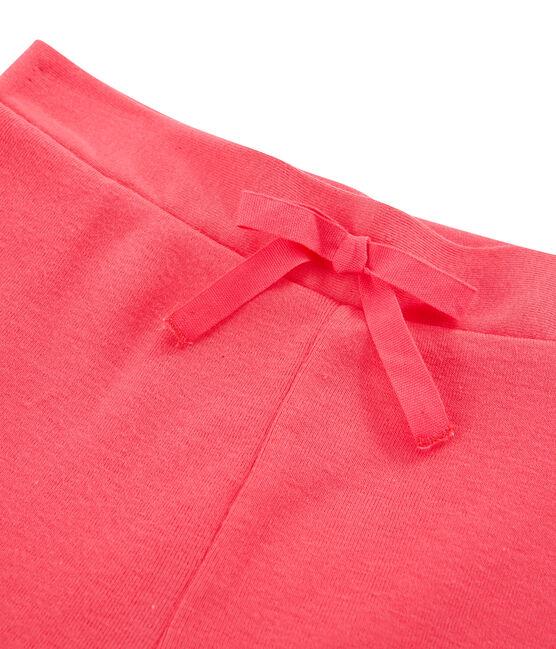 Kinder-Strick-Bermuda für Mädchen rosa Groseiller