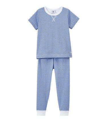 Kurzärmeliger Jungen-Schlafanzug aus gedoppeltem Jersey
